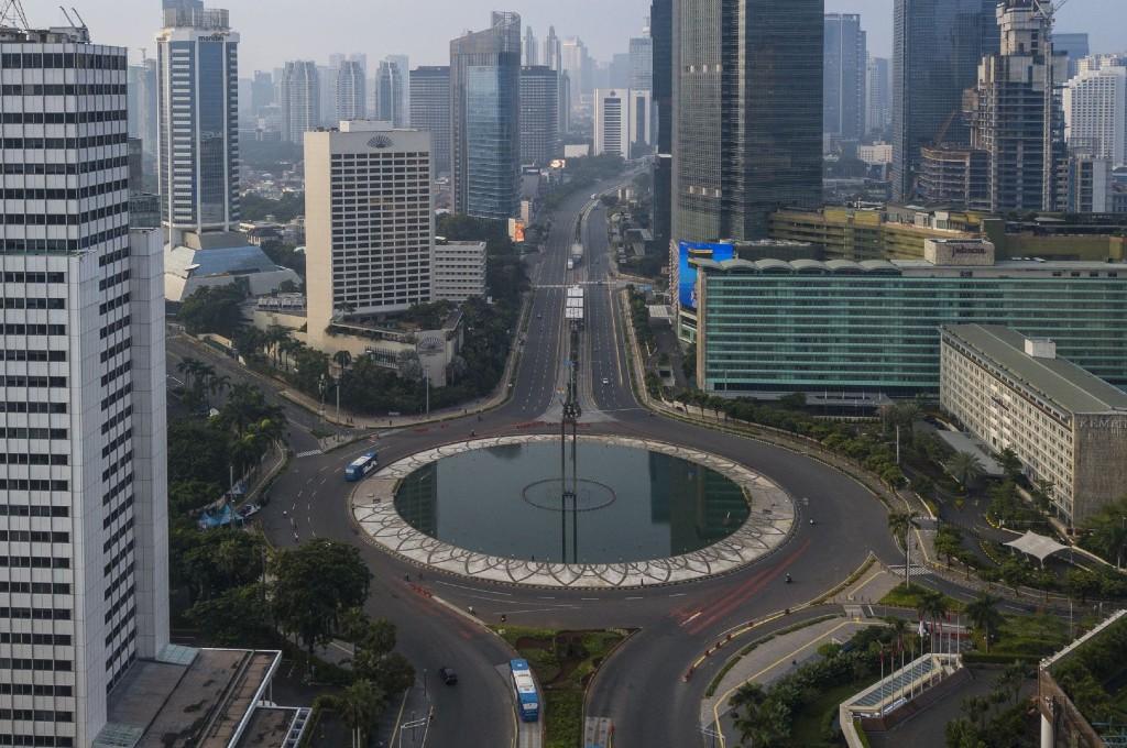 Kondisi jalanan Jakarta saat PSBB. dok mi