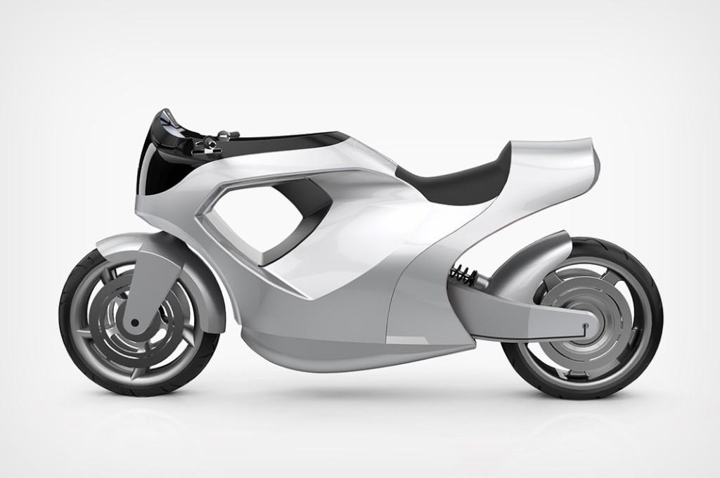 Konsep sepeda motor listrik Tesla M e-Bike. autoevolution