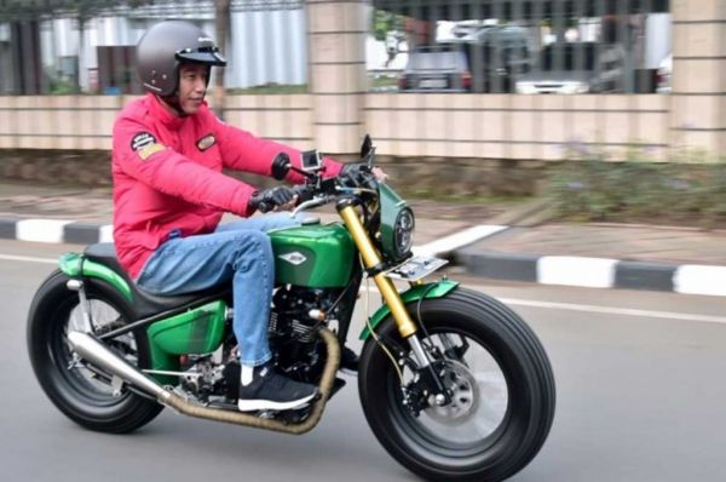 Motor custom milik Jokowi kreasi Katros Garage. dok medcom