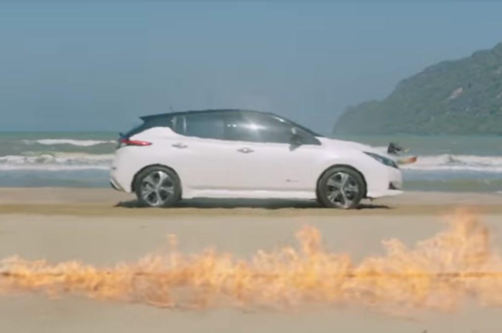 Mobil listrik Nissan LEAF menjalani tes performa dan ketangguhan. nissan