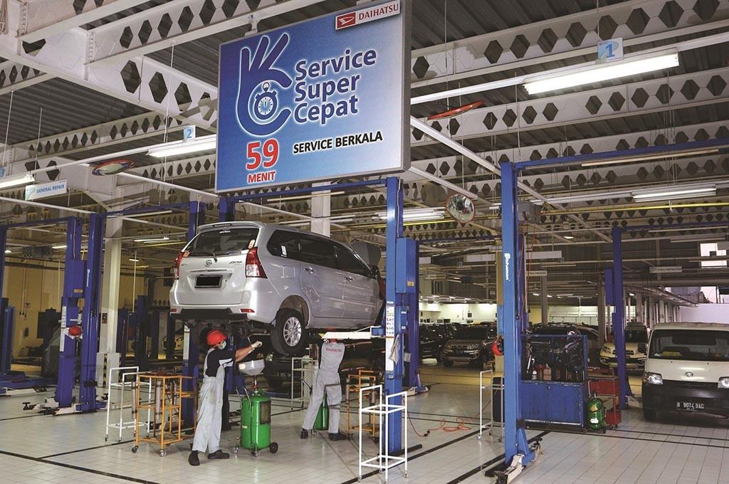 Daihatsu hadirkan konsep baru layanan servis mobil drive-thru. daihatsu