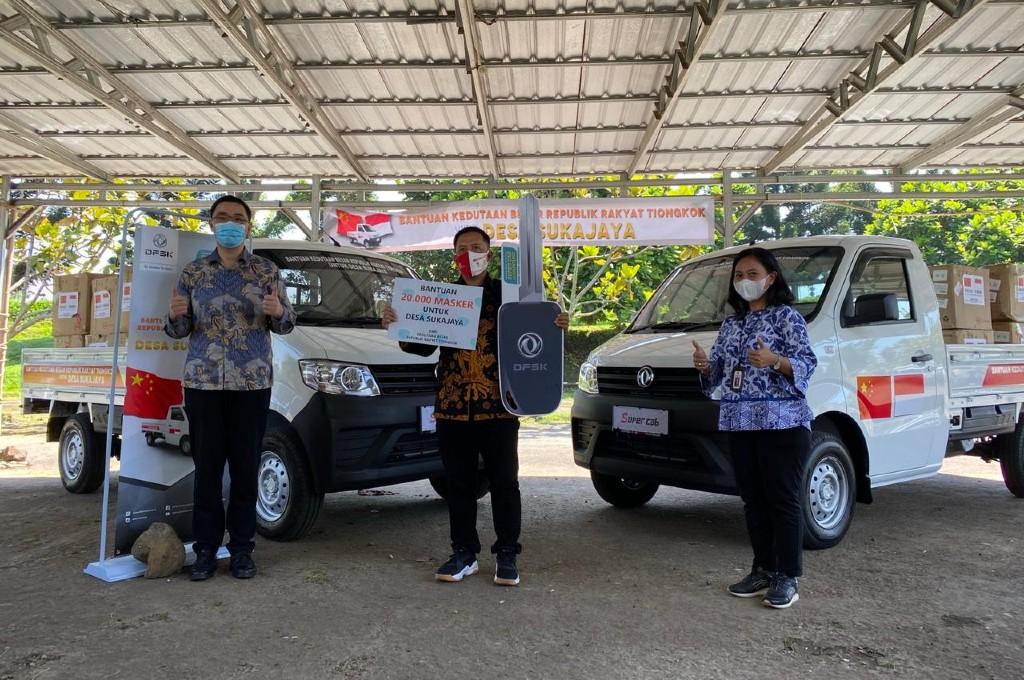 Kedubes China sumbang dua unit DFSK Super Cab untuk Desa Sukajaya, Sukabumi. dfsk