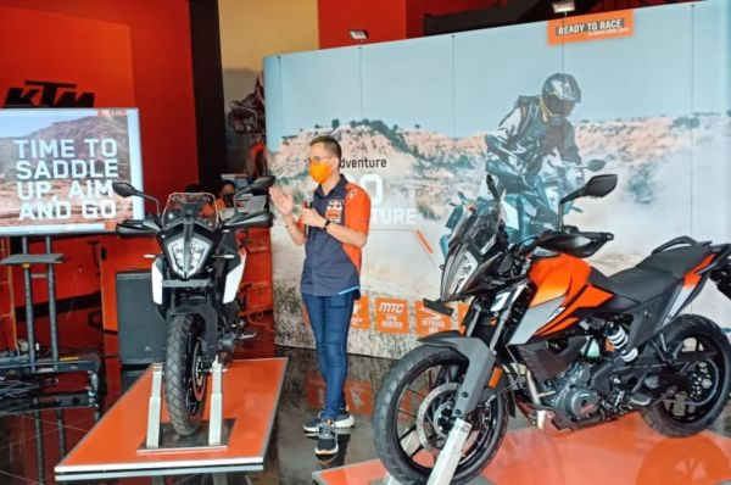 KTM Indonesia perkenalkan KTM 390 Adventure. ktm