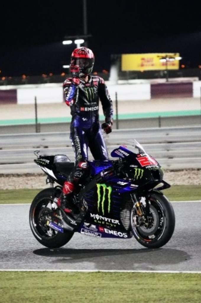 Fabio Quartararo menangi MotoGP Doha (foto: yamaha motogp)