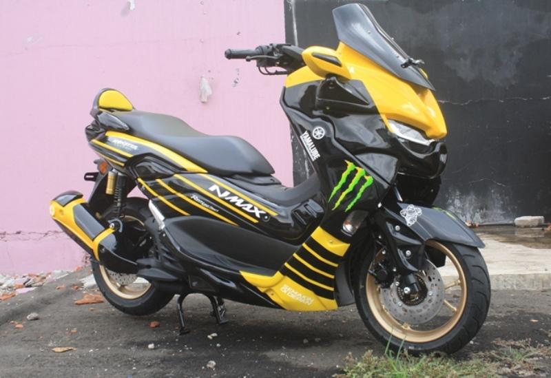 Penampakan Yamaha All New NMax Predator hasil modifikasi (Foto: Alun Segoro)