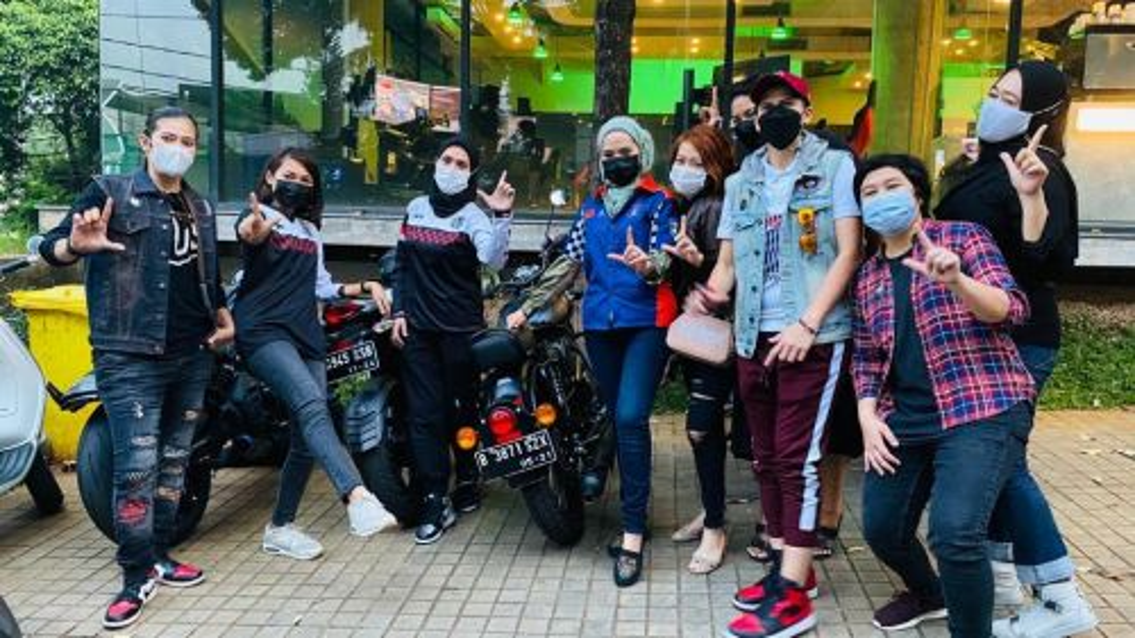 Moto Ladies, komunitas pengendara motor yang semua anggotanya adalah perempuan (Foto: Moto Ladies)