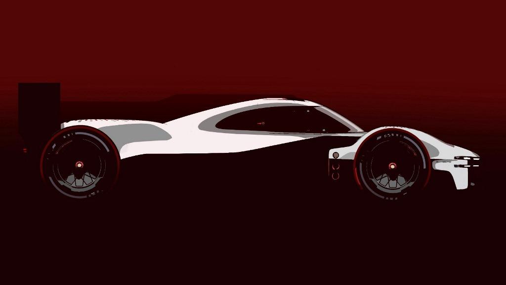 Sketsa mobil balap Le Mans Daytona Hybrid (LMDh) garapan Porsche Motorsport dan Multimatic (Porsche Motorsports)