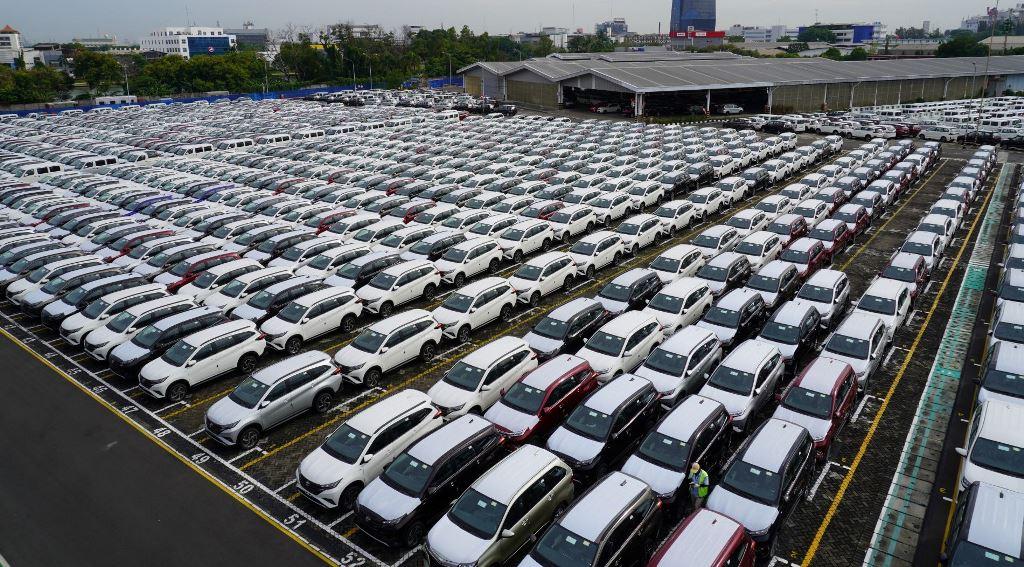 Jejeran unit produksi Astra Daihatsu Motor di fasilitas logistik (Foto: Ist)