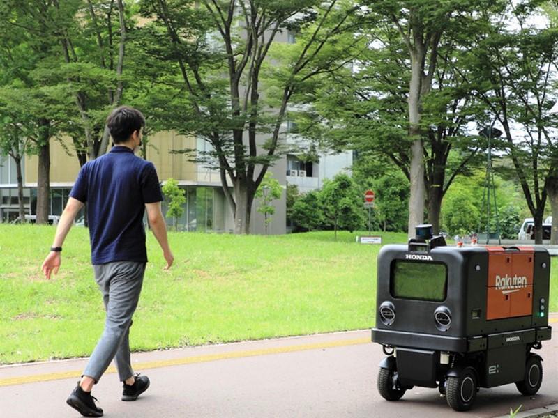 Honda uji coba robot kurir di JepangHonda uji coba robot kurir di Jepang (Foto: Honda Motor .Co.Ltd)