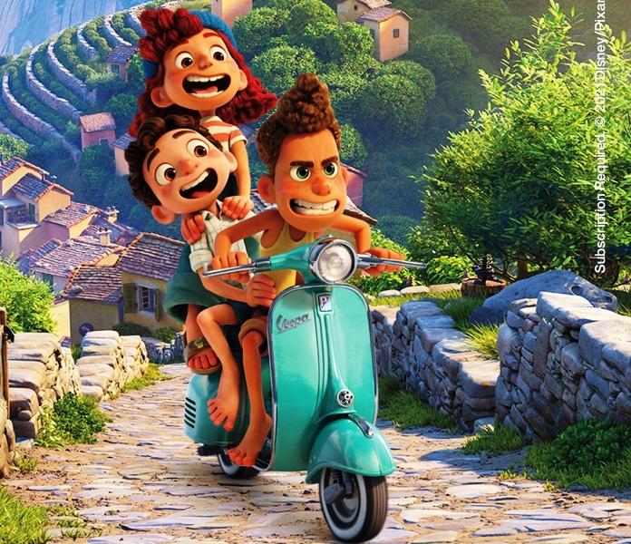Petualangan Bersama Vespa di Film Animasi Disney and Pixar's, Luca (Foto: Piaggio Indonesia)
