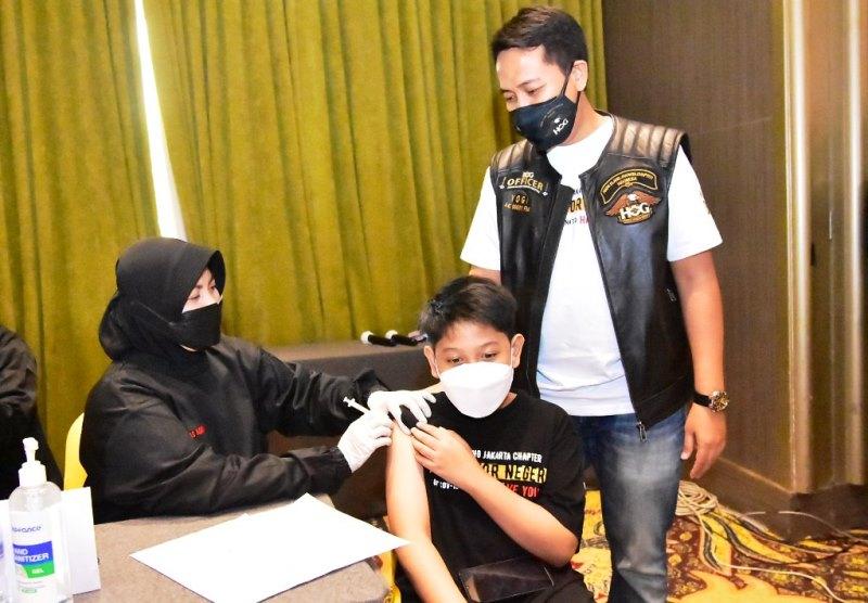 HOG Anak Elang Jakarta Chapter gelar vaksinasi gratis (Foto: HOG Anak Elang Jakarta Chapter)