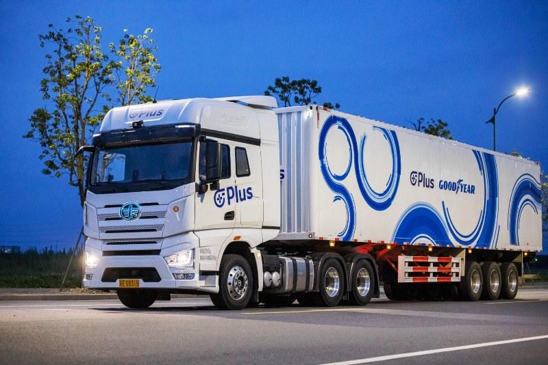 Kolaborasi Goodyear dan perusahaan teknologi Plus membuat truk otonom (Foto: Ilustrasi Goodyear Tire & Rubber)